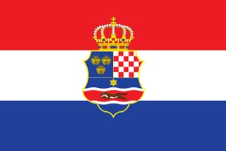 Kingdom of Croatia-Slavonia - Image: Official flag of the Triune Kingdom of Croatia 1848 1918 2 3