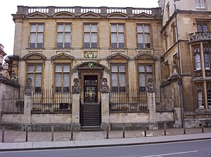 Museum architecture - The Old Ashmolean building in Oxford, an early example of purpose-built museum architecture