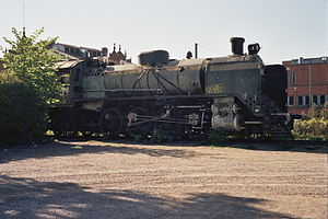 Old Locomotive at Tampere railway station May2008.jpg