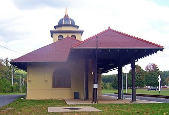 Ontario and Western Railroad Passenger Station - Station building in 2007