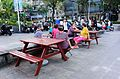Old Women Talking in Front Court of Carrefour Minsheng Shop 20161024.jpg