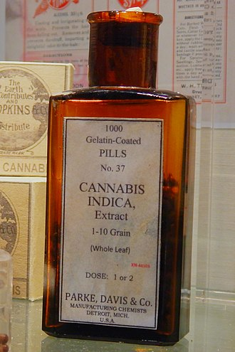 Medical cannabis in the United States - Cannabis pills sold by Parke, Davis & Co.