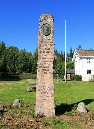 Ole Olsen Evenstad (born 1766) - Ole Olsen Evenstad memorial at Stor-Elvdal Church