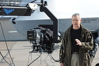 Oliver North - North filming a scene of War Stories with Oliver North at Holloman Air Force Base, New Mexico, 2010
