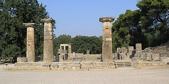 Peloponnese - The Temple of Hera, Olympia.