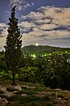 On the Areopagus early in the evening. In the distance the Monument of Philopappos.jpg