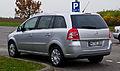 Opel Zafira 1.6 CNG ecoFlex Turbo Design Edition (B, Facelift) – Heckansicht, 17. November 2012, Heiligenhaus.jpg