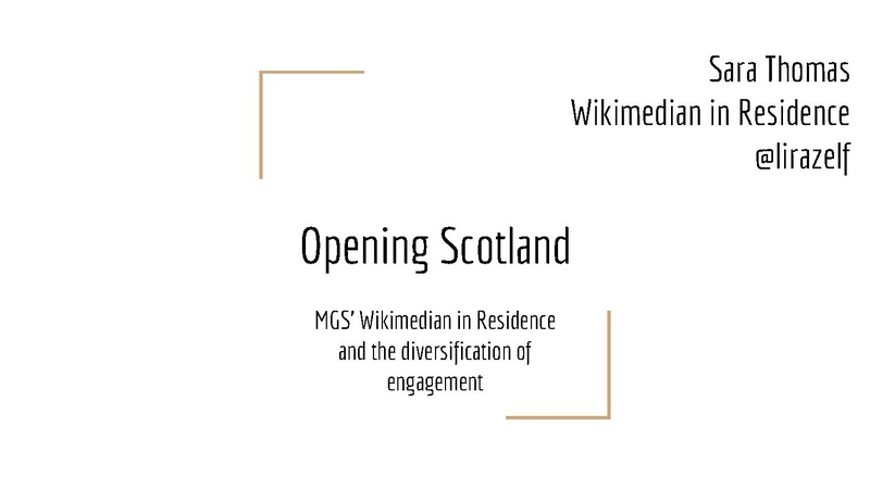 File:Opening Scotland MGS Wikimedian in Residence and the diversification of engagement.pdf