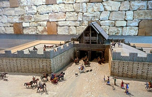 Oppidum of Manching - Model of the eastern gate.