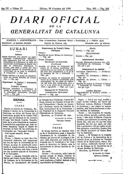 File:Ordre relativa a la posta en funcionament del Museu Marítim de Catalunya.pdf