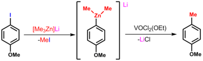 One useful organozincate reaction