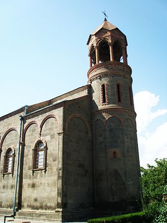 Oshakan - Image: Oshakan Mesrop Mashtots Church 1875