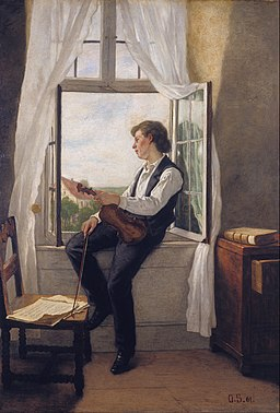 Otto Scholderer - The Violinist at the Window - Google Art Project