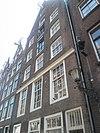 foto van Pand met achtergevel van Geldersekade 8, typische achterhuisgevel met bovenbouw onder punttop