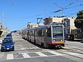 Outbound train at Taraval and 46th Avenue, June 2018-001.JPG