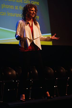 Deborah Berebichez - Physicist Deborah Berebichez speaks on Outrageous Acts of Thinking at the Northeast Conference of Science and Skepticism (NECSS) on April 12, 2015 at F.I.T. Haft Auditorium in New York City.