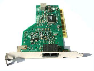 Fax modem - A V.92 fax modem card