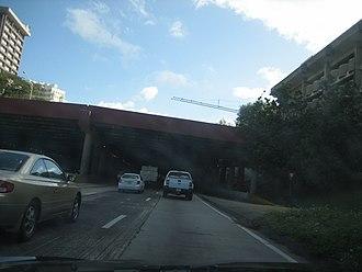 Puerto Rico Highway 22 - PR-22 begins in San Juan through Minillas Tunnel.