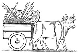 PSM V18 D470 Ancient roman farm kart and oxen.jpg