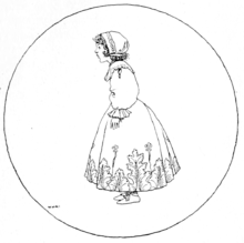 sketch of young girl in dress and head covering