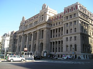Palace of Justice of the Argentine Nation - View of main facade