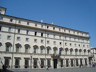 Palazzo Chigi building in Rome, Italy