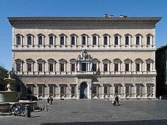Palacio Farnesio, Roma (1514-1546), terminado después de 1546 por Miguel Ángel