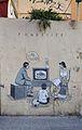 Panòptic, graffiti al carrer de Quart de València.JPG