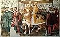 Papa Clemente VII e l'imperatore Carlo V a cavallo sotto un baldacchino (8 de agosto de 2018, Museo degli affreschi Giovanni Battista Cavalcaselle, Verona).jpg