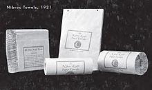 asciugamani di carta nibroc prodotti nel 1921
