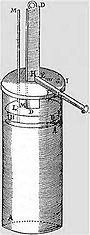Az els� dugatty�s g�zg�p, melyet Denis Papin k�sz�tett 1690-ben.