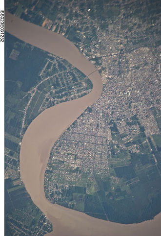 Paramaribo - View of Paramaribo from space