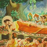 Buddha's entry into Parinirvana.