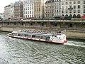 Paris 75005 Promenade René-Capitant 20100807 tour boat.jpg