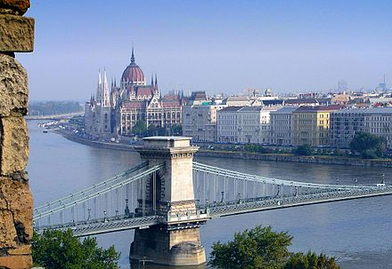 The Danube in Budapest Parliament Budapest Hungary.jpg