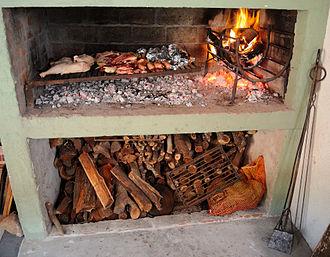Uruguayan cuisine - A typical Uruguayan parrillero