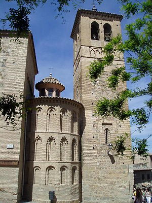 Iglesia de Santa Leocadia, Toledo - Tower and apse of the church