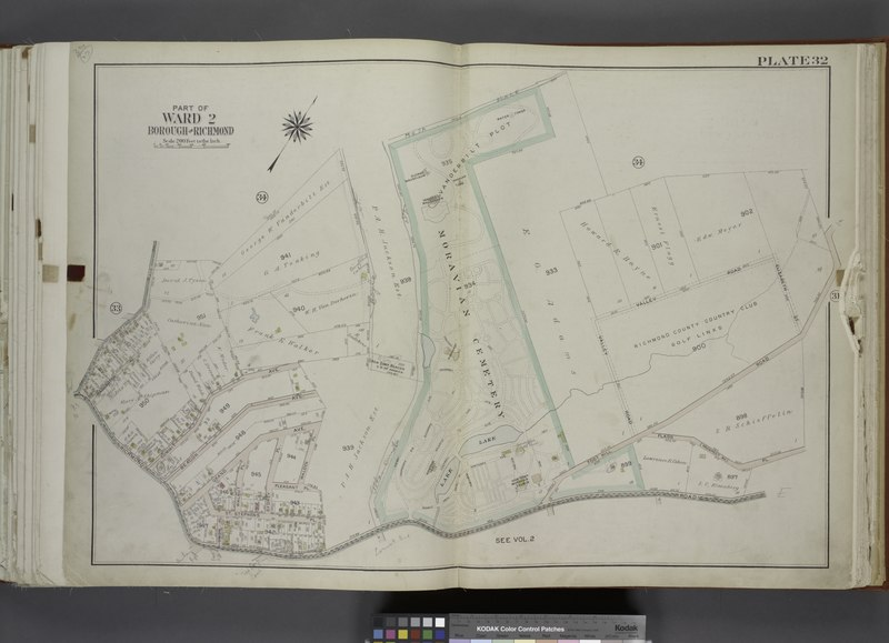 File:Part of Ward 2. (Map bound by Moravian Cemetery, Todt Hill Road, Flagg (Prospect Ave) PL, Richmond Road, Rockland Ave (Egbert)) NYPL1646252.tiff
