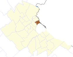 location of Vicente López Partido in Gran Buenos Aires