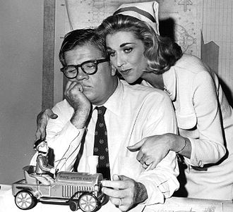 "Pat Hingle - Pat Hingle and Nan Martin in ""The Incredible World of Horace Ford"", a 1963 episode of The Twilight Zone."