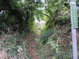 English: Path to Callaughton. This footpath le...