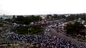 Patidar reservation agitation - Demonstration rally at Ahmedabad on 25 August 2015