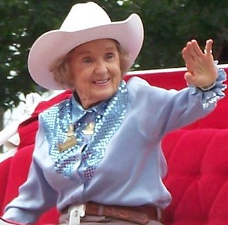 Calgary White Hat - Patsy Rodgers, the first Stampede Queen in 1946, is seen here as the 2008 Stampede Parade Marshal