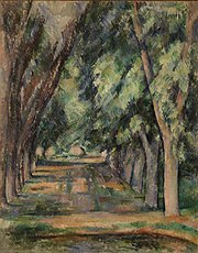 Paul Cézanne - The Allée of Chestnut Trees at the Jas de Bouffan (L'allée des marronniers au Jas de Bouffan) - BF939 - Barnes Foundation.jpg