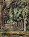 Paul Cézanne - The Allée of Chestnut Trees at the Jas de Bouffan (L'allée des marronniers au Jas de Bouffan) - BF939 - Barnes Foundation.jpg