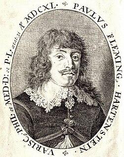 Paul Fleming (poet) physician, poet, diplomat