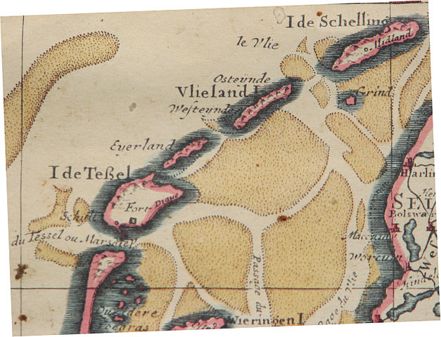 Eierland when it was a separate island