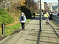 Pedestrians and cyclist on Hadrian's Way, Newcastle - geograph.org.uk - 1051454.jpg