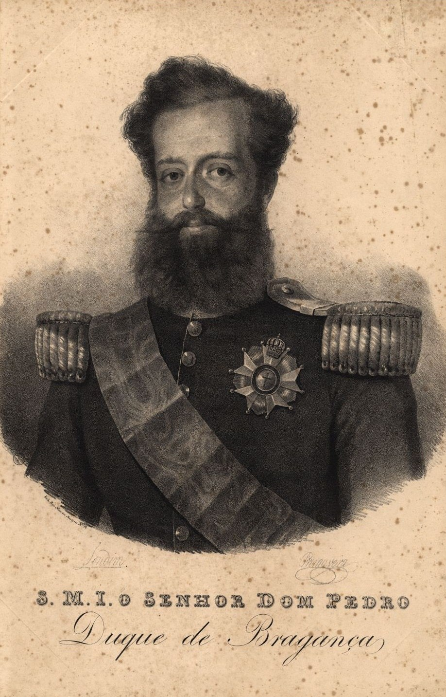 Pedro I of Brazil 1833