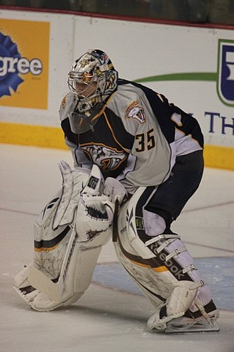 Pekka Rinne - Rinne in 2011 Stanley Cup Western Conference Semifinals.